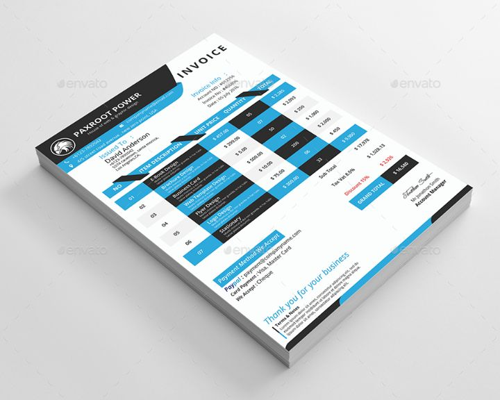 invoice template word, psd. vector eps and ai format - graphic cloud, Invoice examples