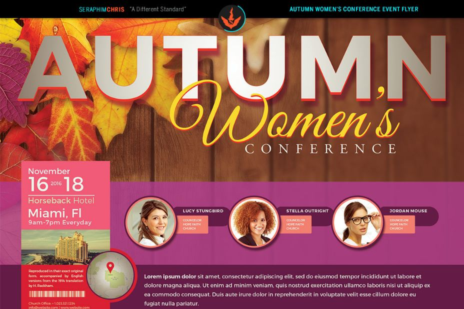 Conference Flyer Template For Corporate Church And Teacher