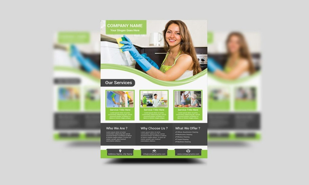 Cleaning Services Ad Flyer Template