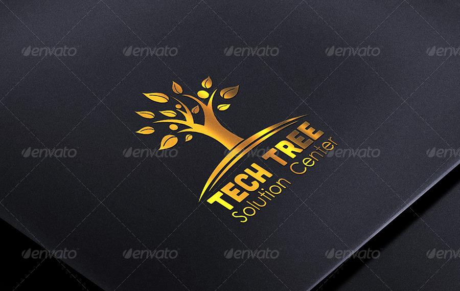 Company Branding Logo PSD Mockup
