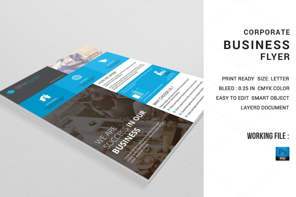 Corporate Advertisement Flyer Template