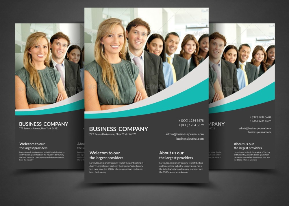 Corporate Company Flyer Template PSD