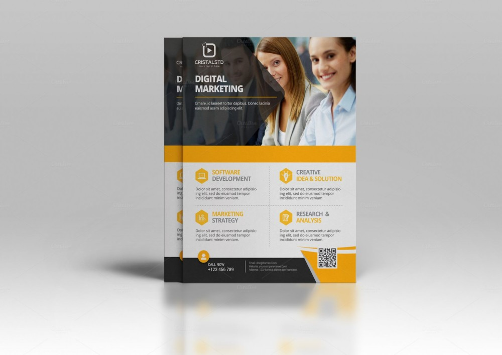 Corporate Marketing Flyer Template PSD