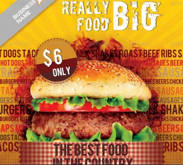 Corporate hamburger Flyer Template PSD