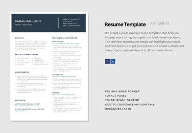 Consulting Resume Template Word, PSD and InDesign Format