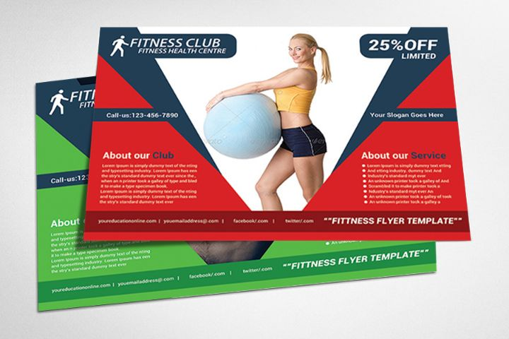 Creative Fitness Flyer Template PSD