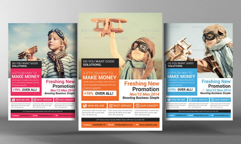 Marketing Flyer Template Psd For Corporate Product And Event