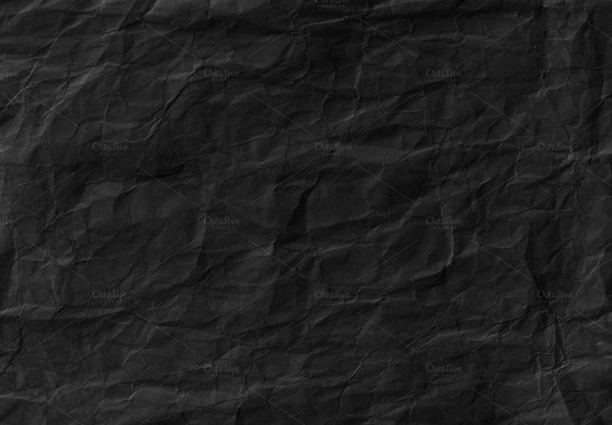 Crumpled Black Paper Texturea
