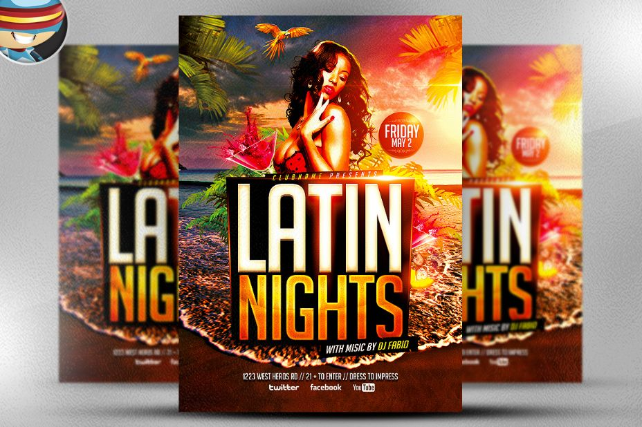 customizable-beach-party-flyer-template