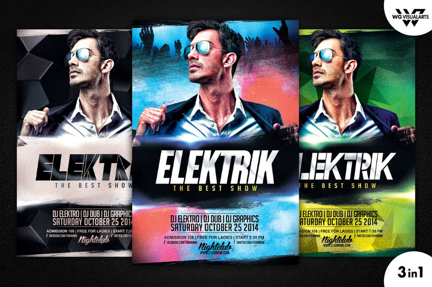 Customizable DJ Flyer Template PSD