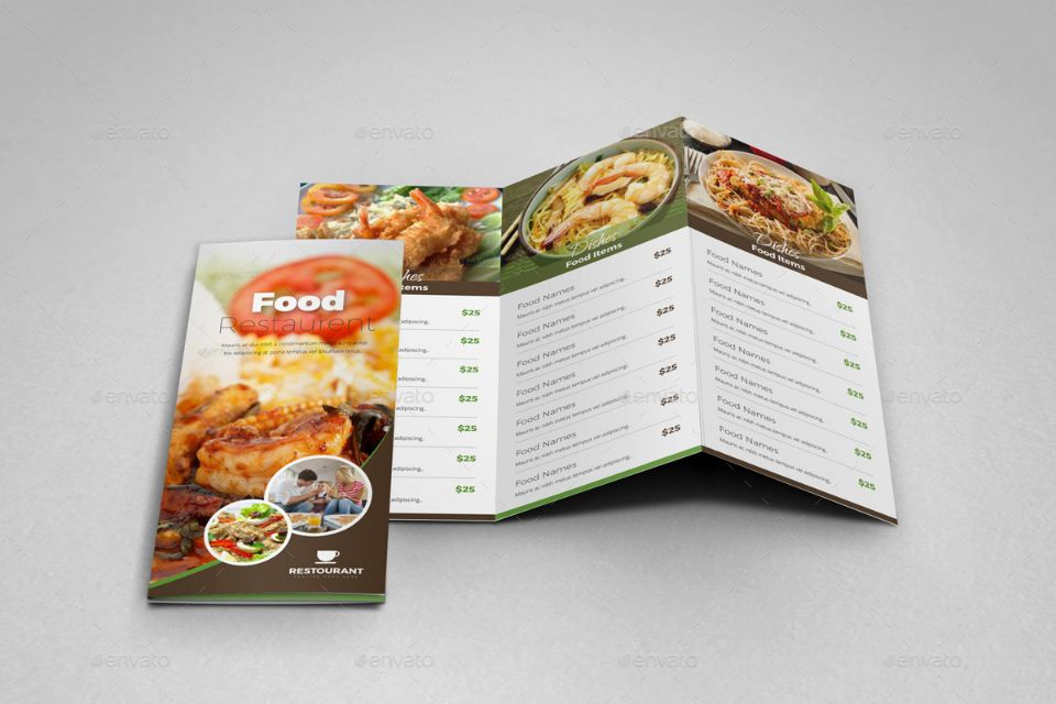 customizable-food-brochure-template