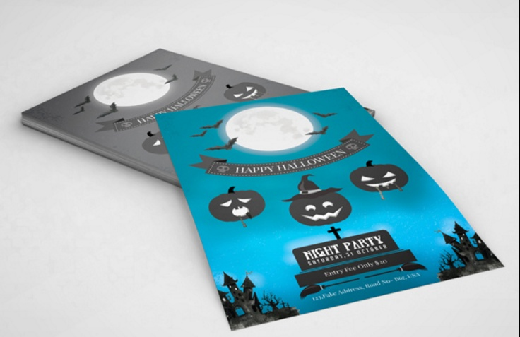 customizable-halloween-invitation-template-psd