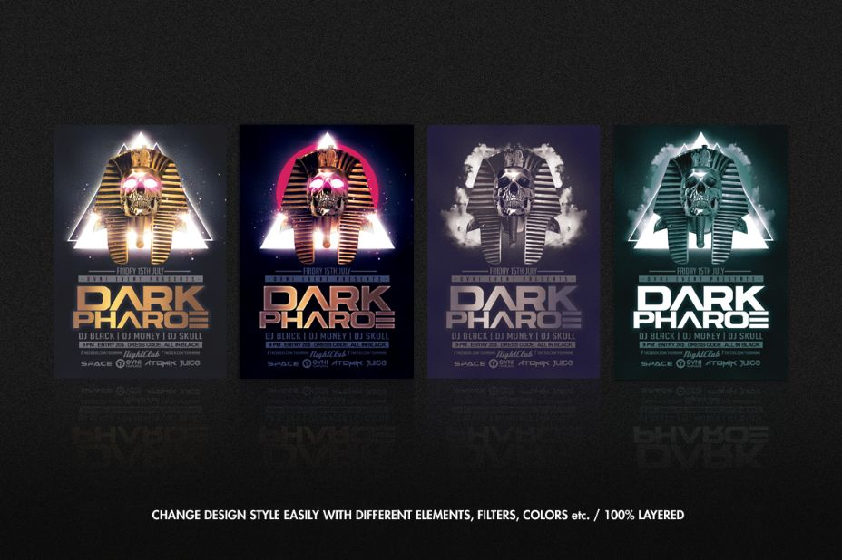 Dark DJ Flyer Template PSD