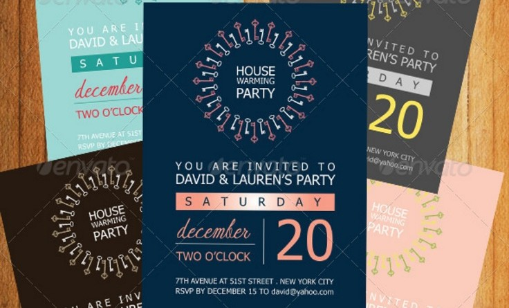Housewarming Invitation Template Word Indesign And Psd