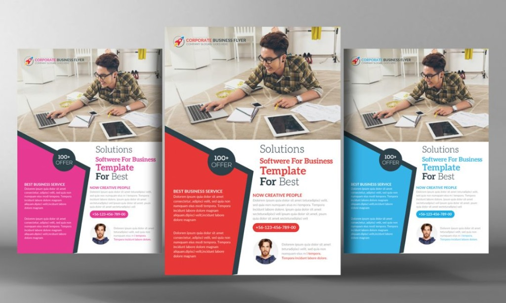 Easy Editable Corporate Flyer Template PSD