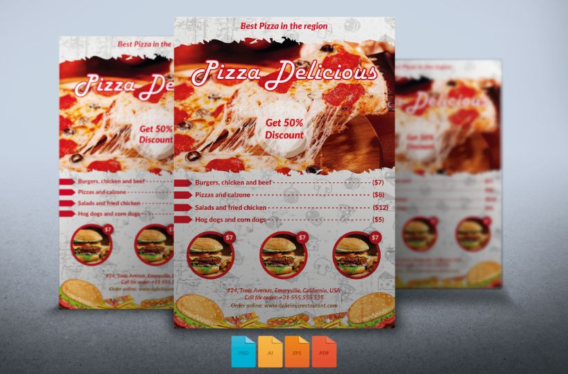 easy-editable-pizza-flyer-template