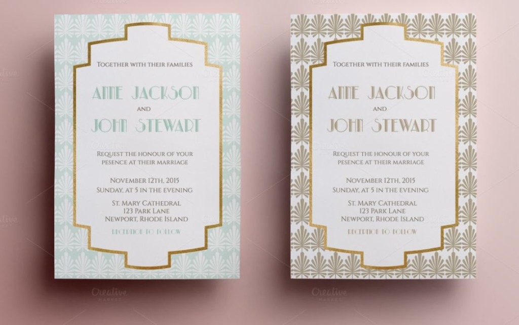 Easy Editable Wedding Invitation Card Template