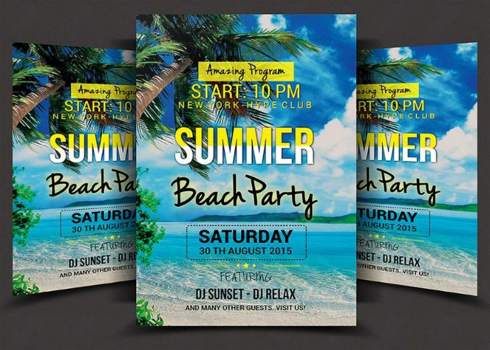 editable-beach-party-flyer-template