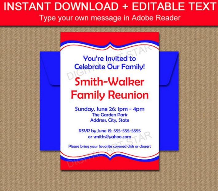 10 Family Reunion Invitation Template Word PSD EPS and Ai – Reunion Invitation Template