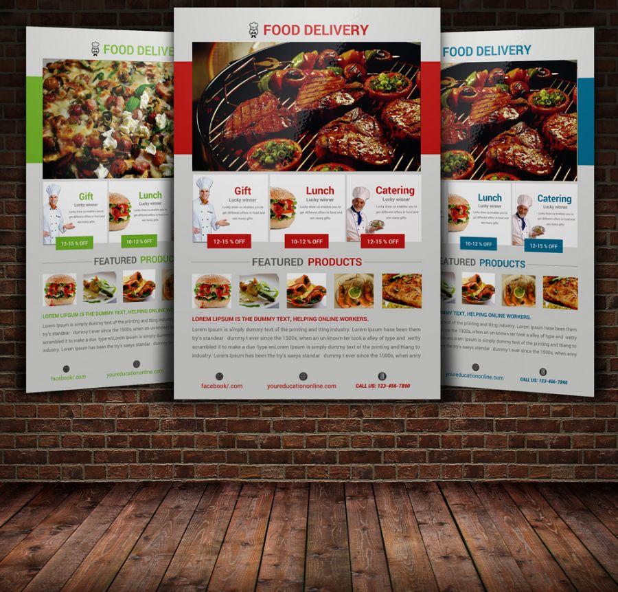 Editable food Flyer Template PSD