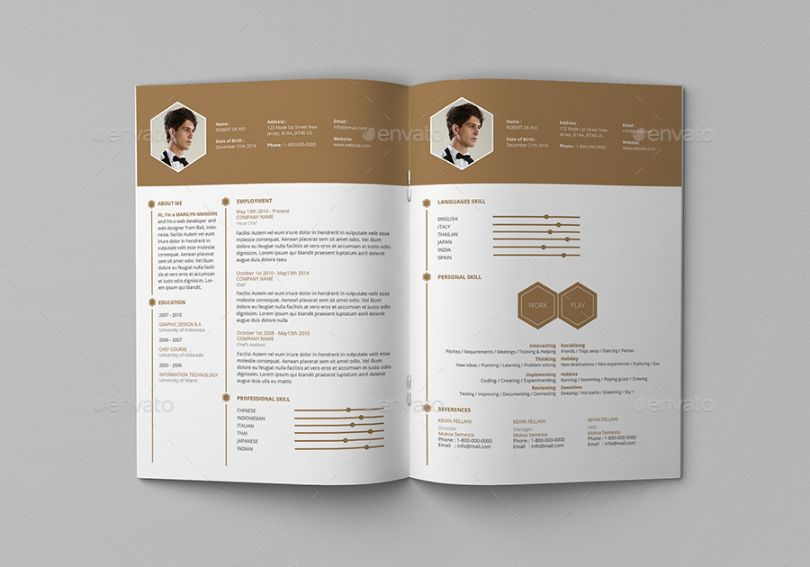 Chef Resume Template Word, Indesign And Psd Format - Graphic Cloud