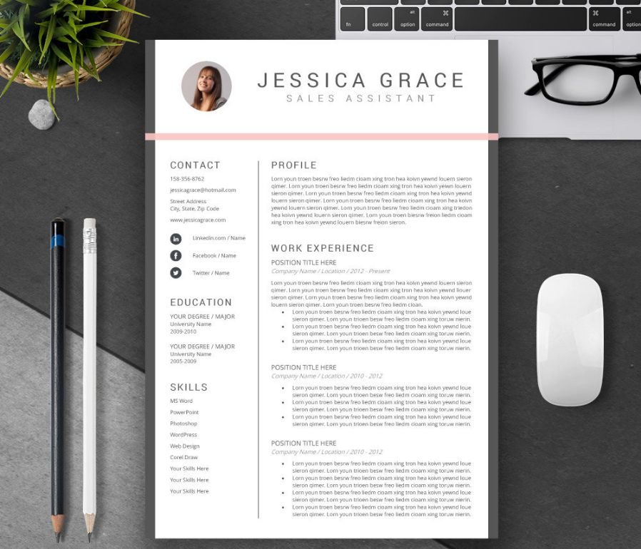 Consulting Resume Template Word Psd And Indesign Format  Graphic