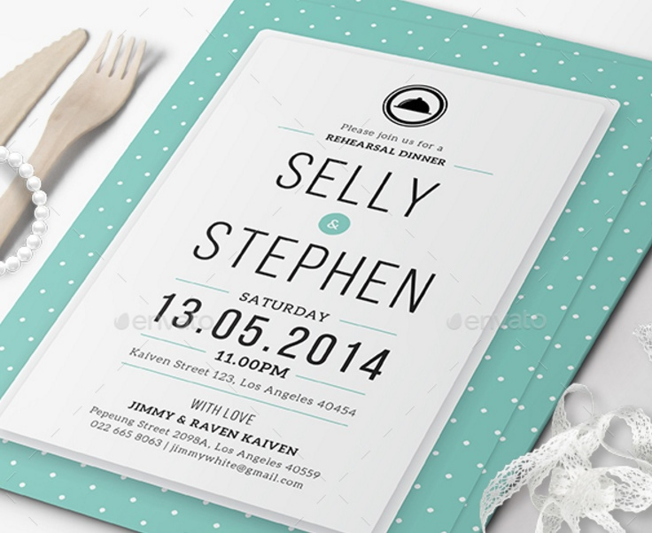 Lunch Invitation Template Psd. Word And Ai Format - Graphic Cloud