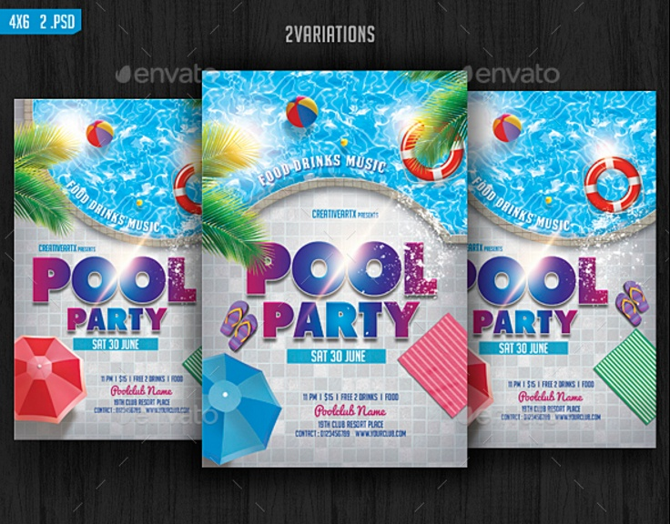 elegant-pool-party-invitation-template