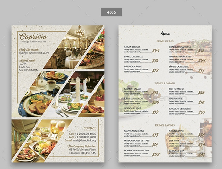 20 Restaurant and Food Flyer Template PSD AI and Vector EPS – Restaurant Flyers Templates