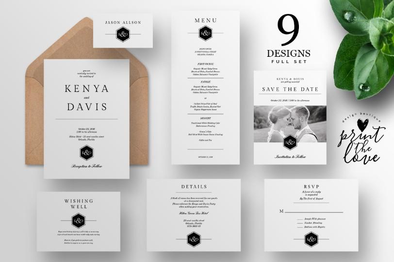 elegant-wedding-invitation-suite-template