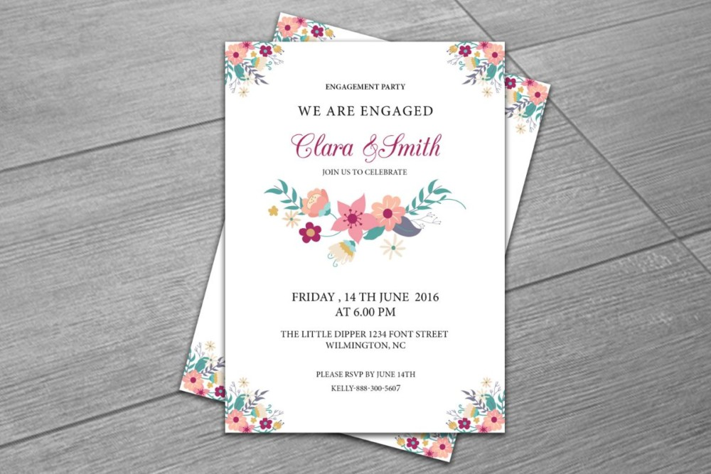 20+ engagement invitation template word, indesign and psd format, Invitation templates