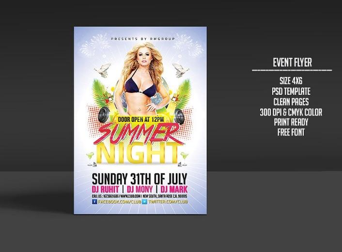 Event Flyer Template PSD