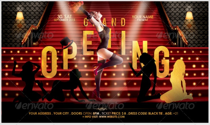 Event Grand opening Flyer Template PSD