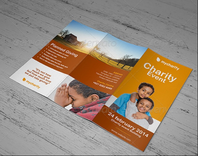 Event Trifold Brochure Mockup