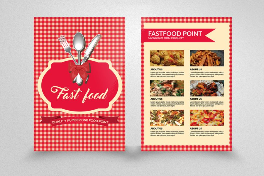 Fast Food Flyer Template PSD