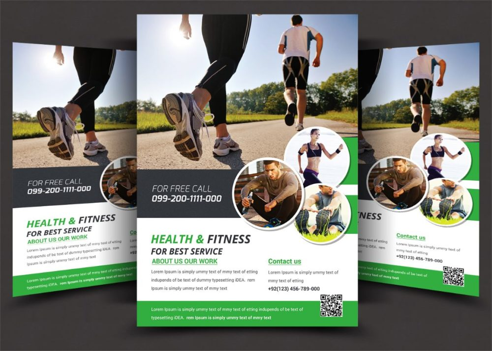Fitness and Health Flyer Template PSD