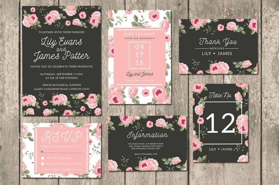floral-wedding-invitation-suite-template