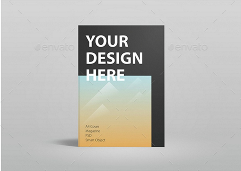 Magazine Cover Mockup PSD for Presenting Print Designs - Graphic Cloud