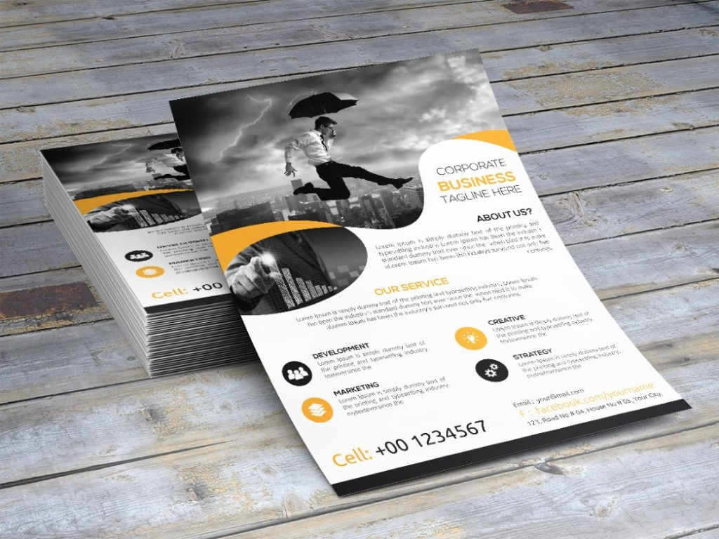 Fully Editable Advertisement Flyer Template