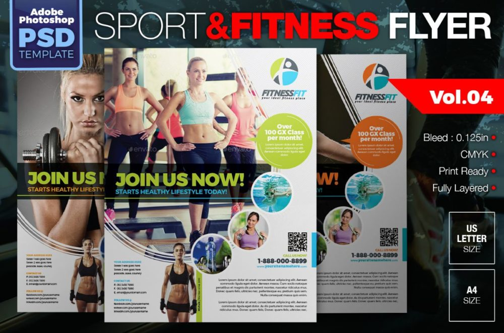 Fully Layered Fitness Flyer Template (1)