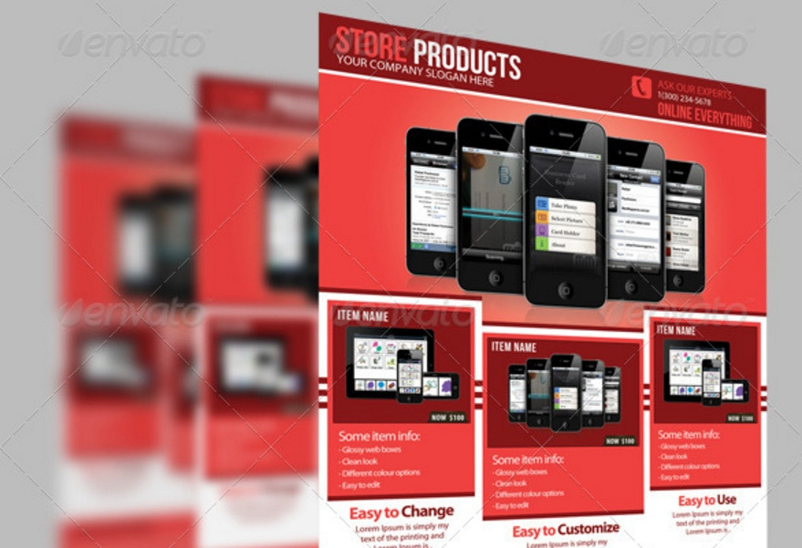 Product Flyer Template PSD InDesign EPS and Ai Formats Graphic – Product Flyer Template