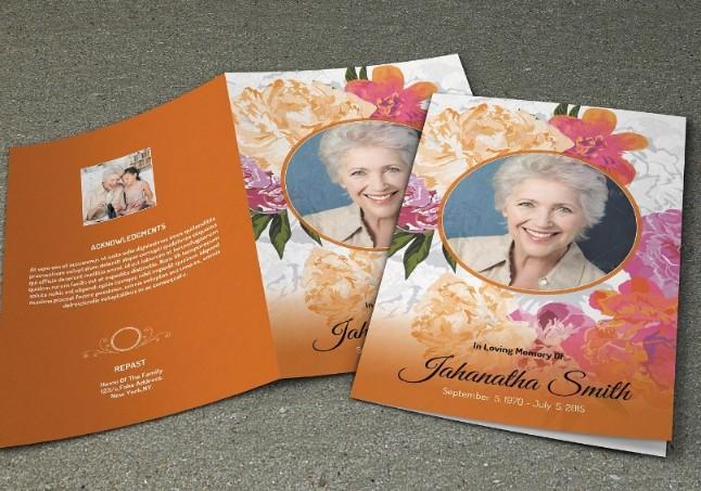 Funeral Brochure Template PSD
