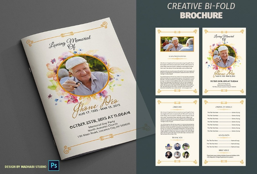 Funeral Memorial Brochure
