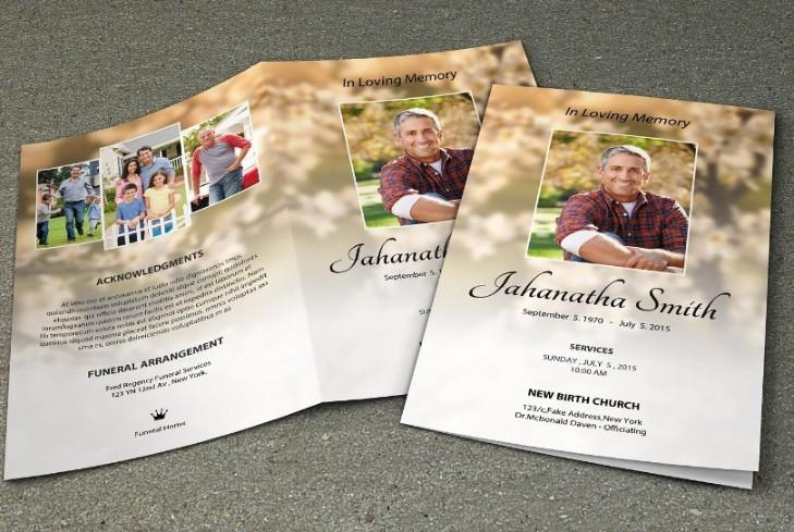 Funeral Program Template PSD