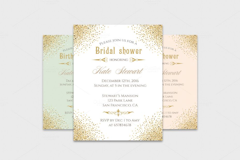 glitter-bridal-shower-invitation-template