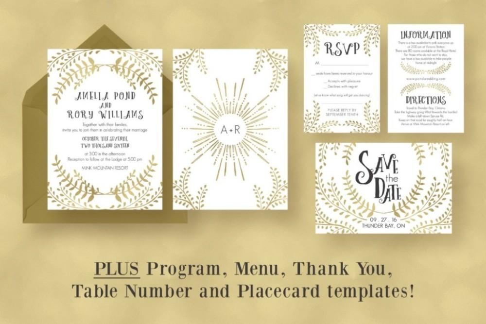 gold-wedding-invitation-suite-template