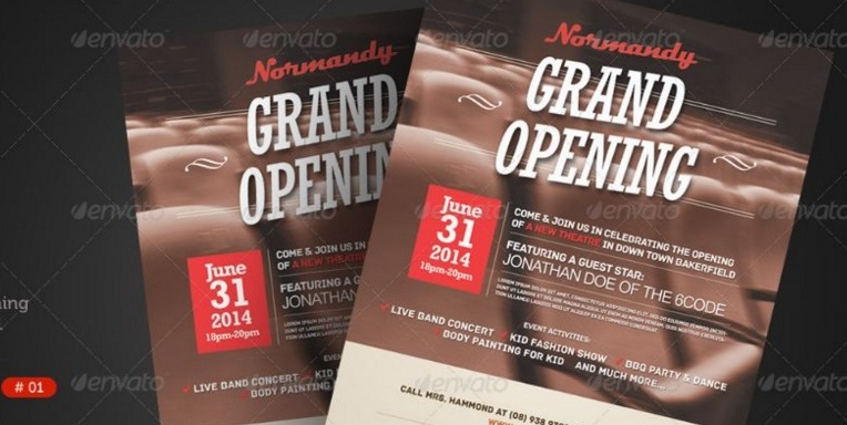 Grand Opening Flyer Template