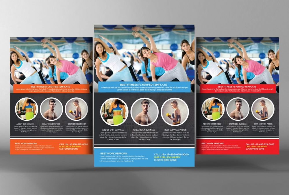 Gym Advertisement Flyer Template
