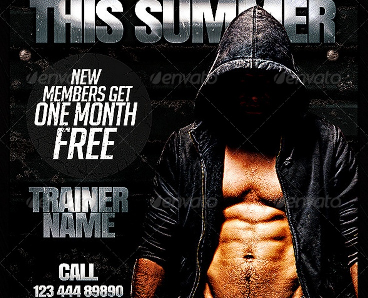 Gym Trainer Flyer Template