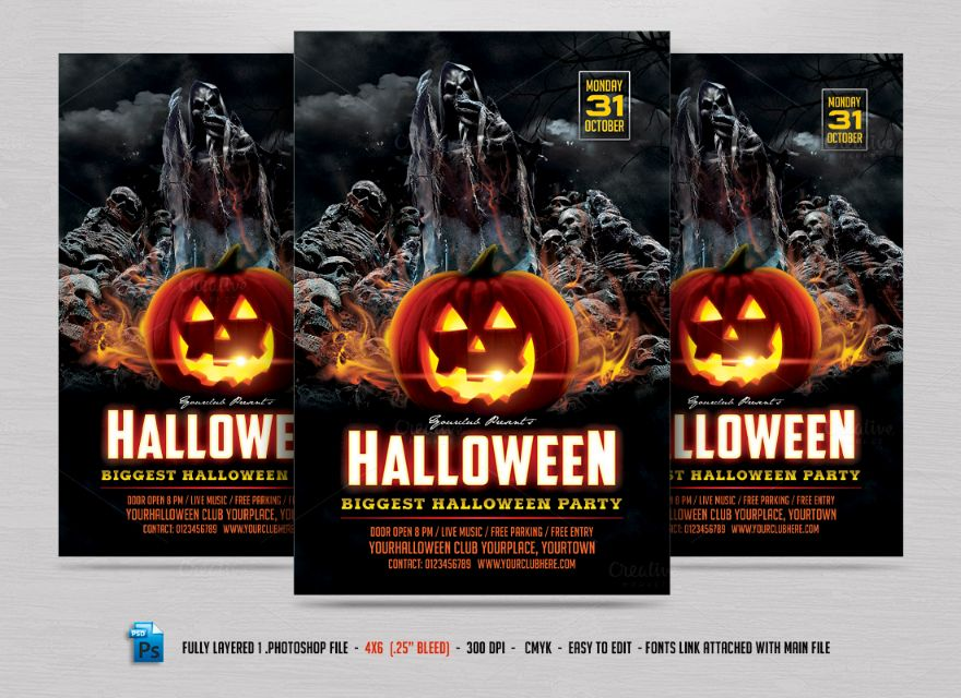 halloween-party-invitation-template
